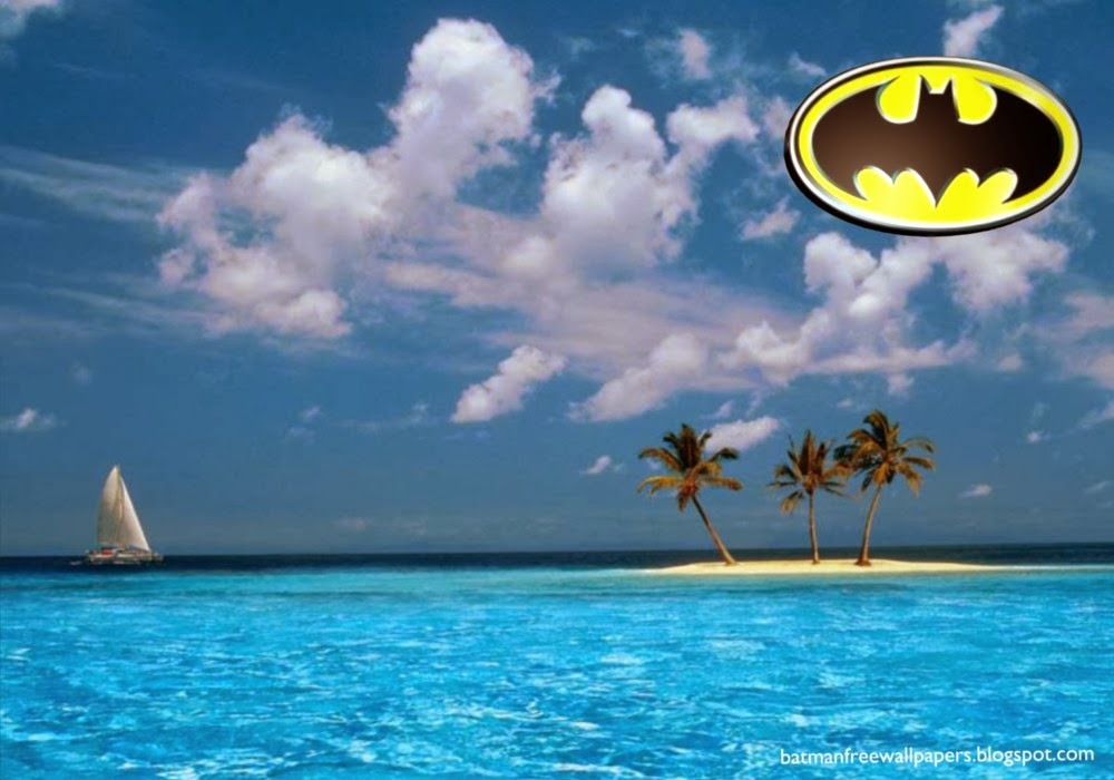 Wallpapers of Batman Dark Knight Logo at Blue Island Desktop Wallpaper