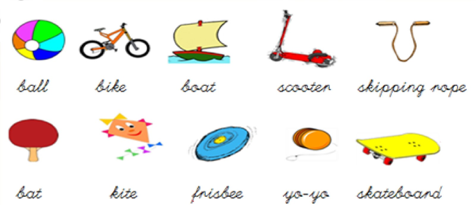 Worksheet Kindergarten Vocabulary kindergarten at home toy vocabulary vocabulary
