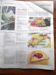 Hubby's Recipe on Newspaper