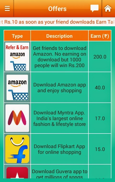 Get Rs. 40 for downloading Amazon app from Earn Talktime Android App
