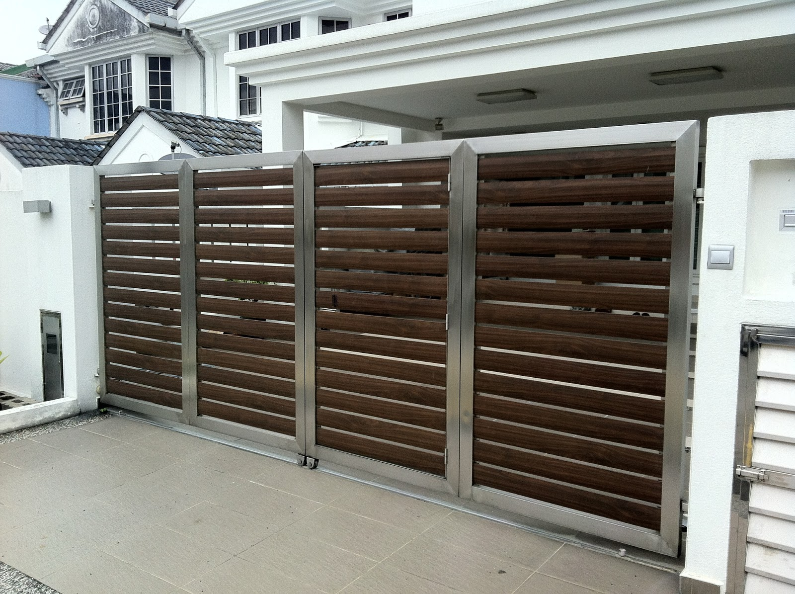 Lkn one stop centre gates stainless steel
