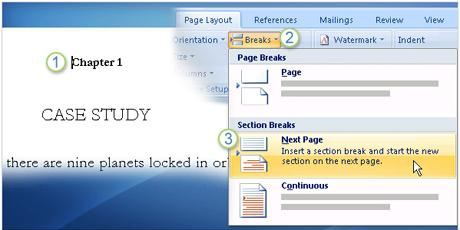 header va footer cho tung phan trong Word 2007 2003 2010 2013