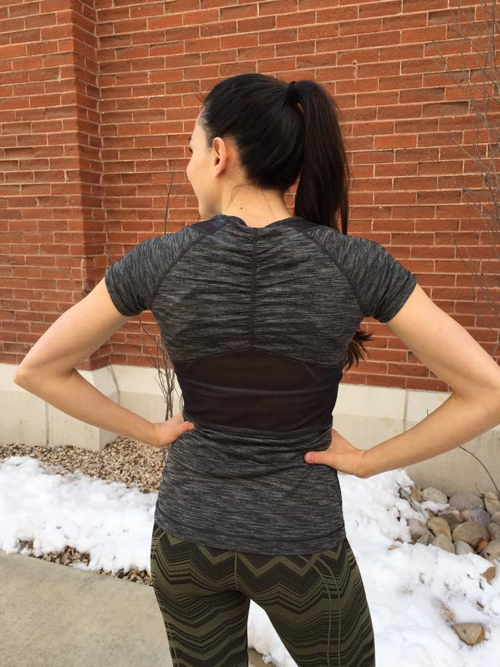 lululemon mesh with me short-sleeve