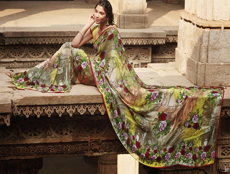 Krishnakali Designer Printed Sarees 2014