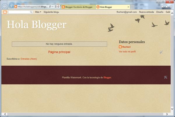 Tu primer blog en Blogger