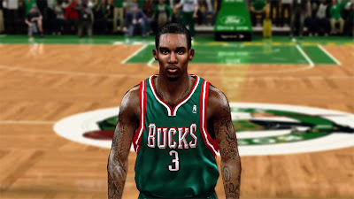 NBA 2K13 Brandon Jennings New Hair Patch