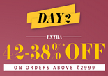 Jabong.com- Day 2 Fashion Frenzy Offer : Extra 42% OFF On 2999 | Discount Drop Every 2 Hour