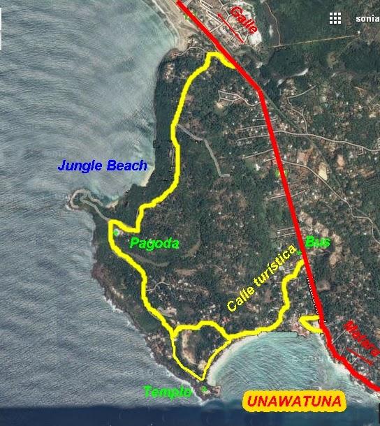 Unawatuna on map