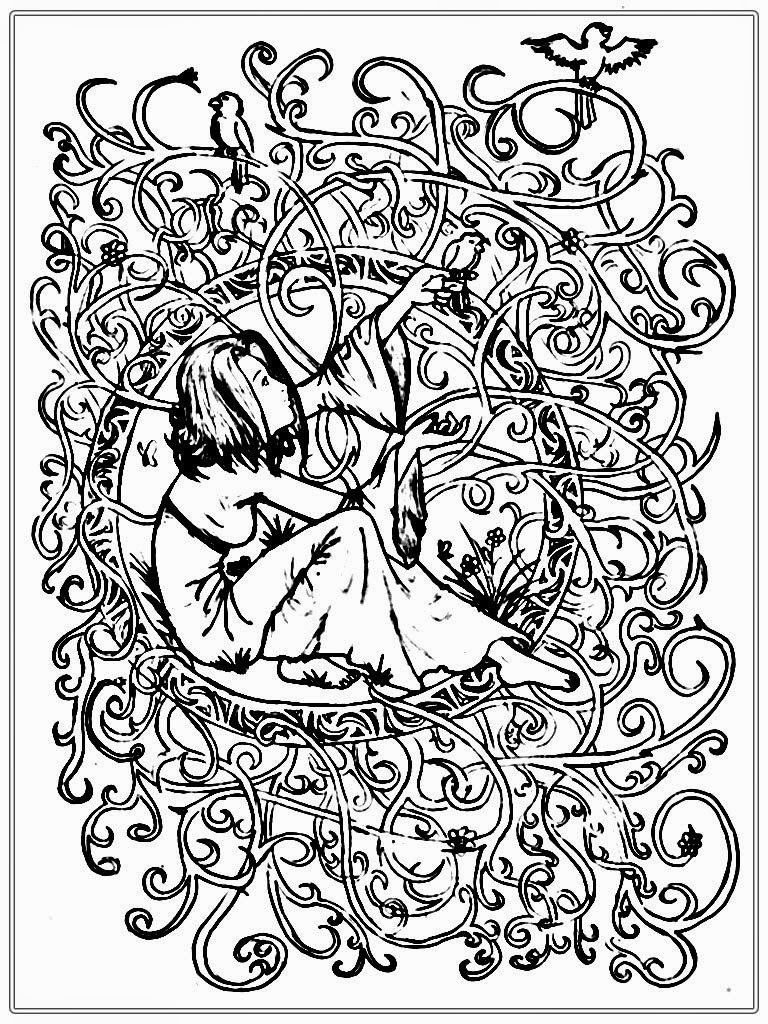 Fantastic Adult Coloring Pages Printable Realistic