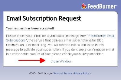 Permintaan berlangganan via email