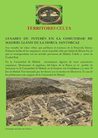 Territorio celta. Lugares de interés en la Comunidad de Madrid: Llano de la Horca. Santorcaz