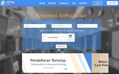 Daftar Member AirPay Loket Garena