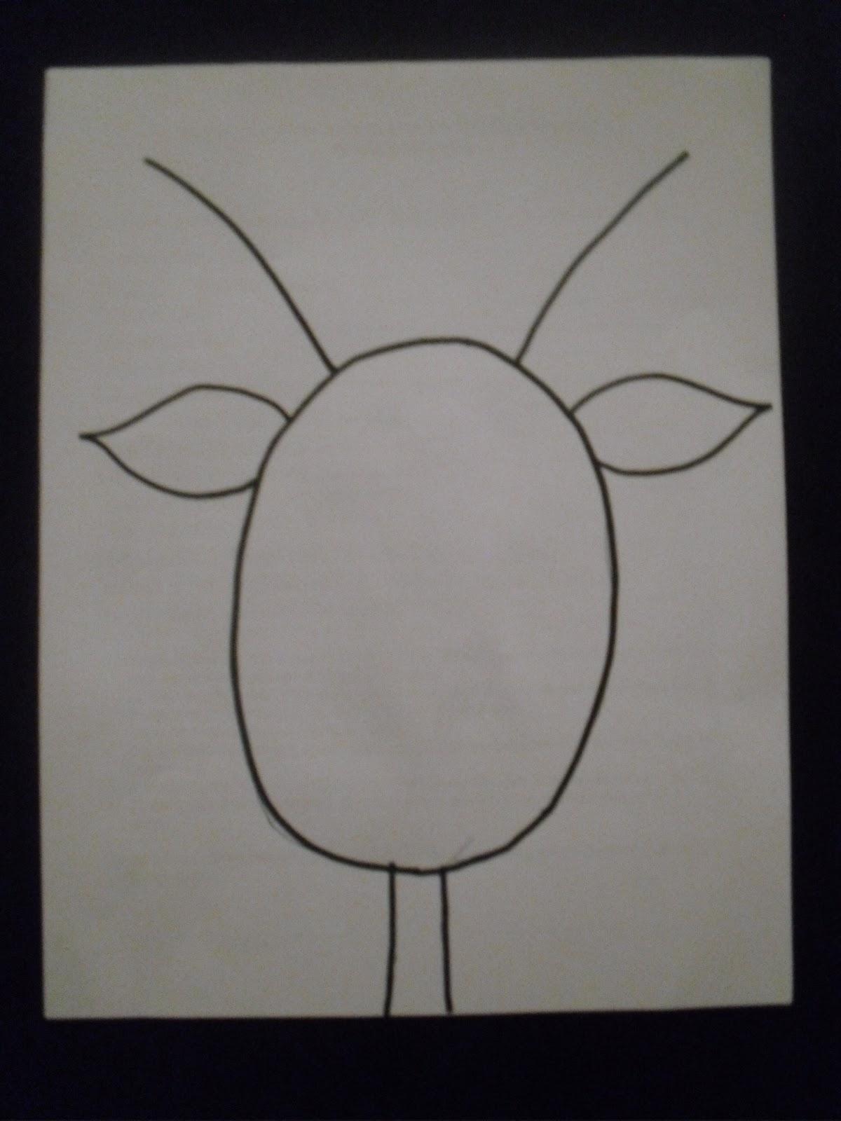 Reindeer Face Line Drawing : Artventurous reindeer portraits