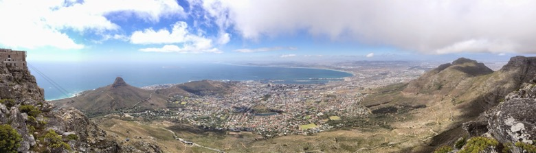 Afryka, Cape Town, widok z Góry Stołowej