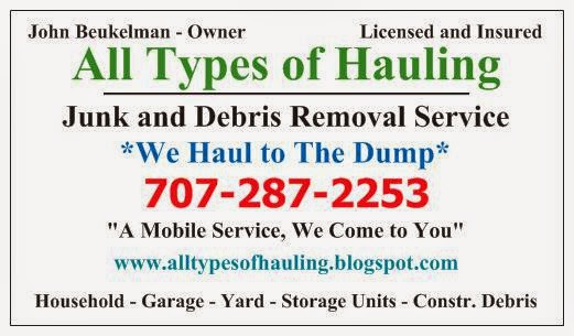 Vacaville Hauling Service Phone Number