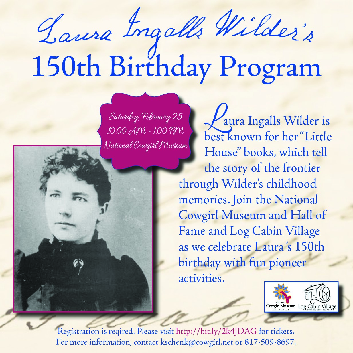 Laura Ingalls Wilder 150th Birthday