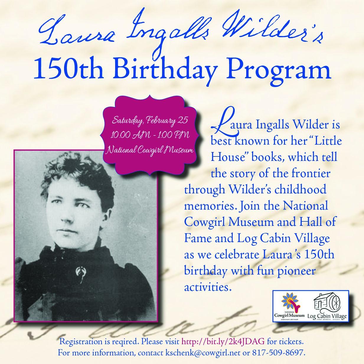 Laura Ingalls Wilder 150th Birthday