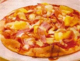 Receta Pizza Jamon y Piña