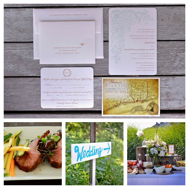 letterpress invitations, a Thyme to Cook Catering