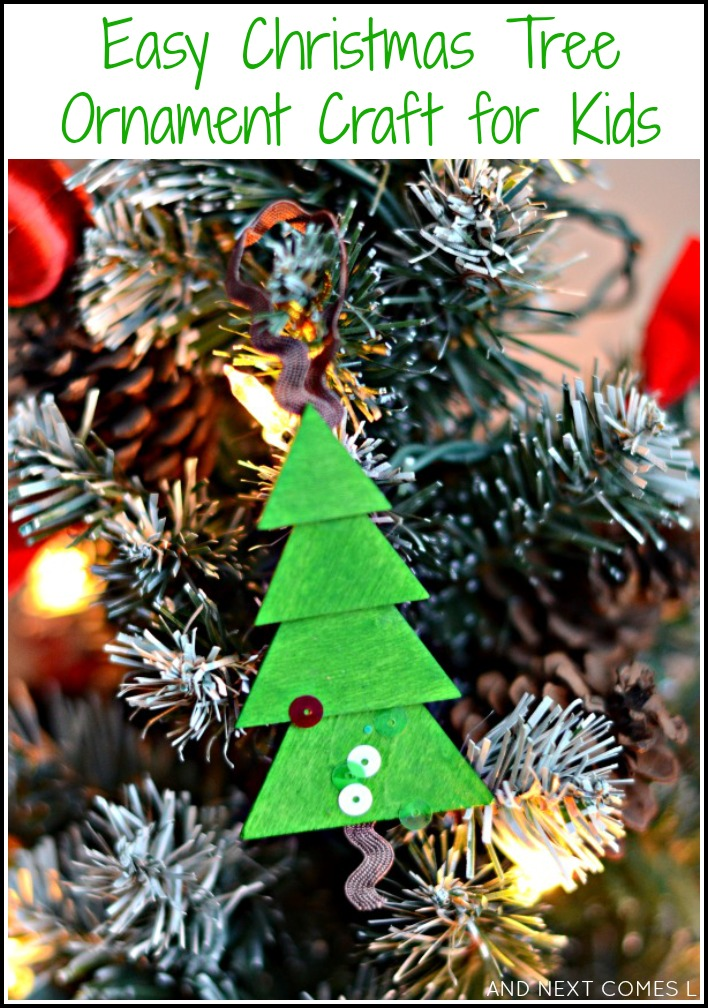 Easy Christmas tree ornament for kids from And Next Comes L