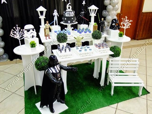 Decoração de festa infantil Star Wars Guerra nas Estrelas