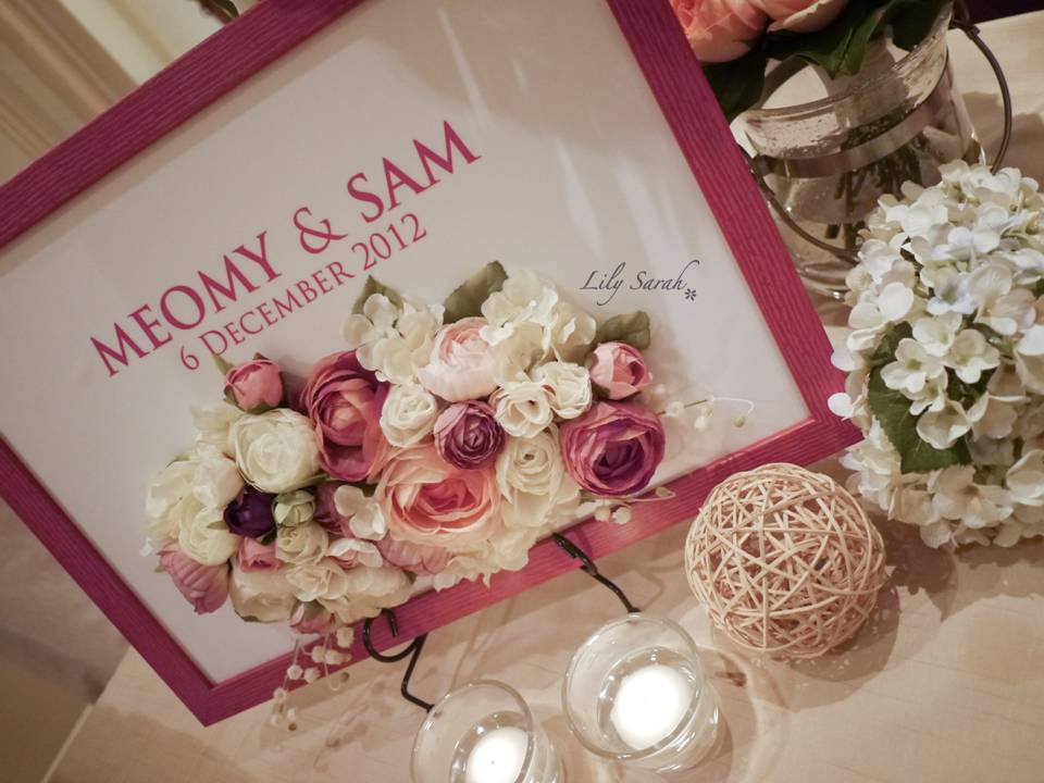 Lily Sarah Floral Studio Wedding Reception Welcome Board Designs