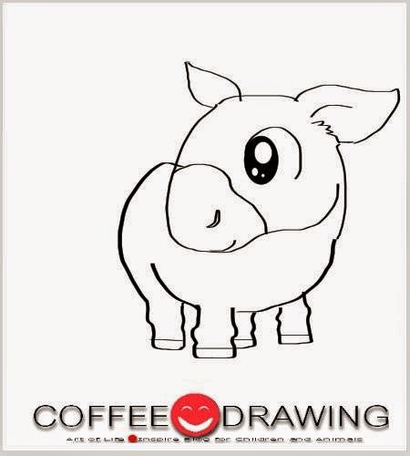 how to draw a donkey step by step easy