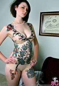 Full body tattoos for women design art for Nude women tattoo