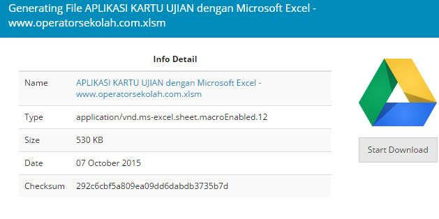 APLIKASI KARTU UJIAN dengan Rumus Microsoft Excel