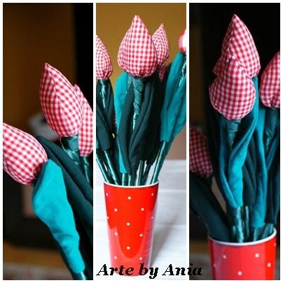 tulipany ręcznie wykonanae