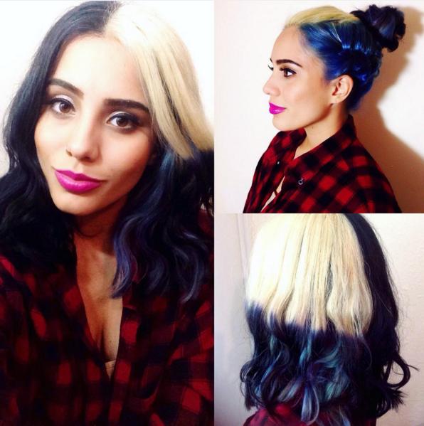 cool unique hair color - nubia's