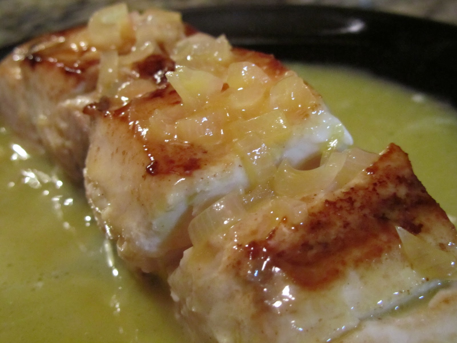 ... fish to a plate and pour the rich beurre blanc sauce over the top
