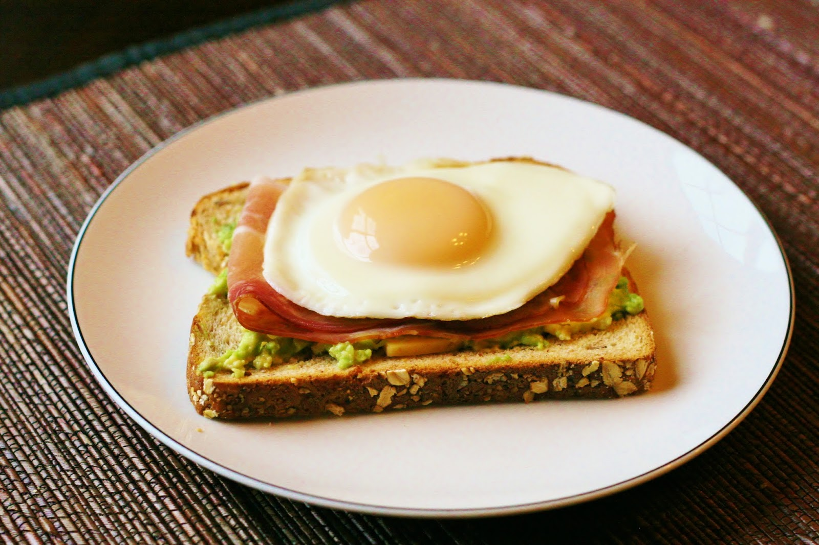 Open Faced Egg Sandwich with Gouda, Avocado and Proscuitto ...