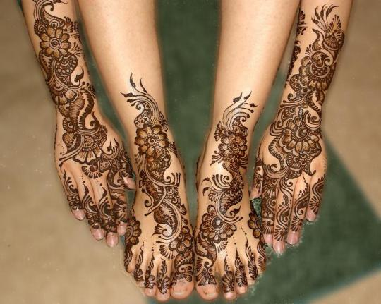 Bridal Mehndi Feet Design : Latest bridal mehndi feet desings