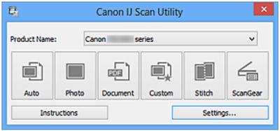 Сканирование с IJ Scan Utility