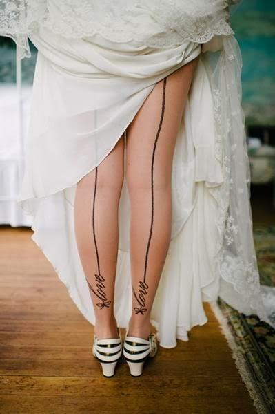 medias de novia con mensaje