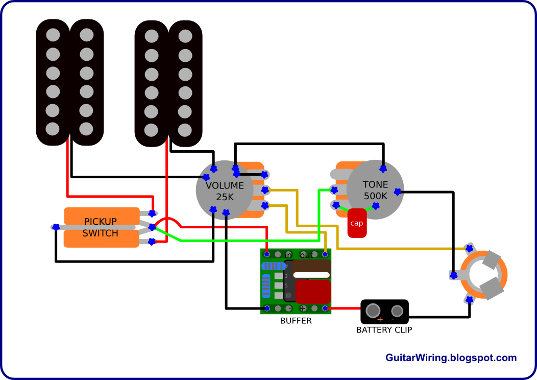 Project # 1] Electronics Guitar Circuit and description ...