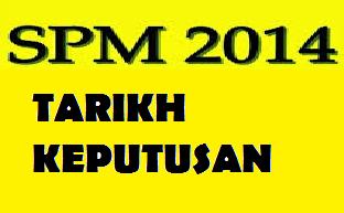 Tarikh Keputusan SPM 2014 Diumumkan