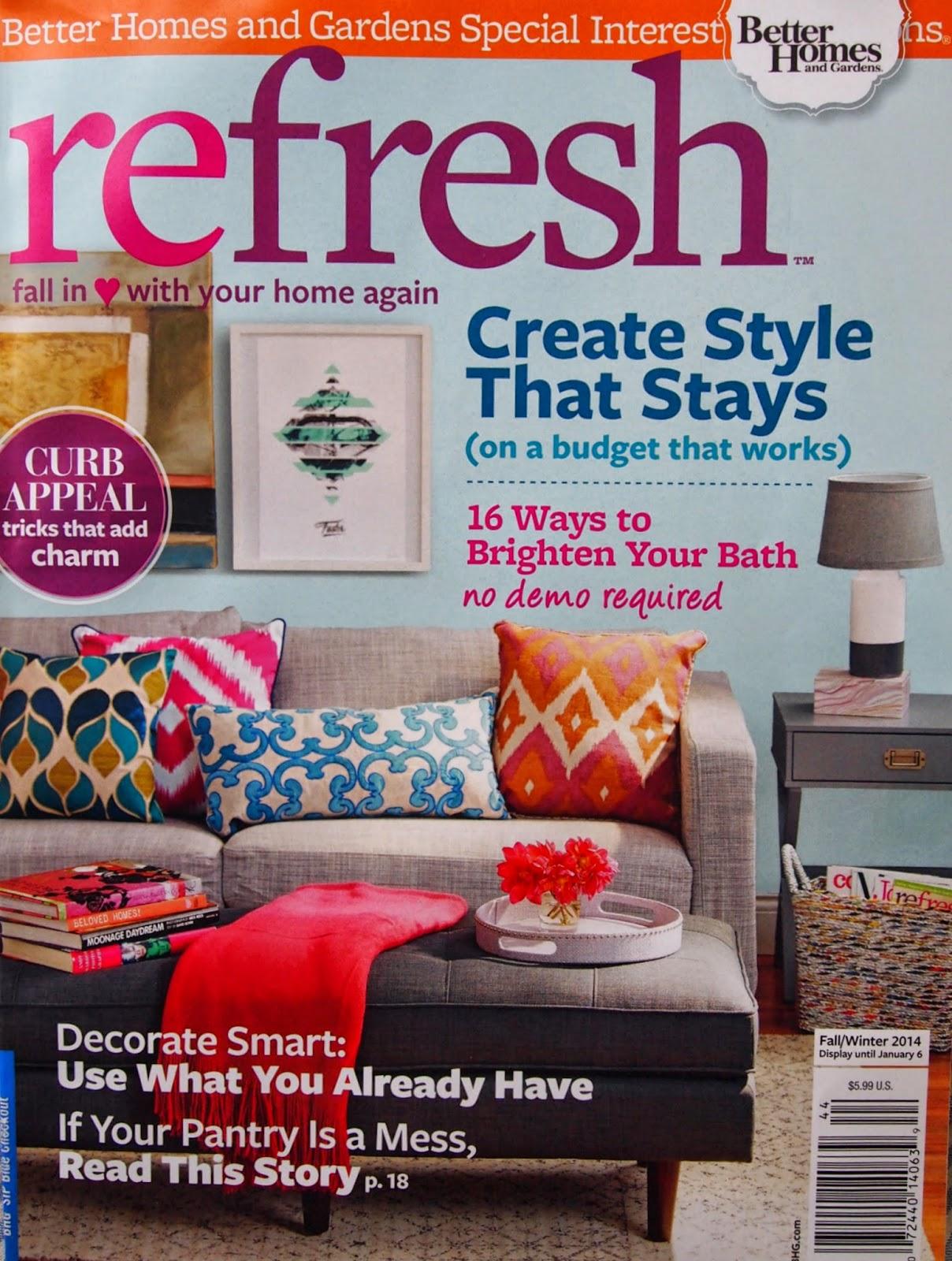 little black door: bh&g refresh magazine feature Refresh Magazine