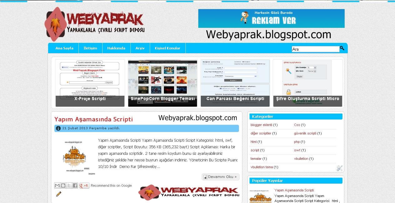 MavimsiBlog Blogger Teması