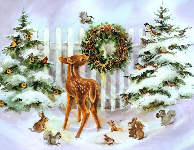 animated Christmas serenity wallpaper
