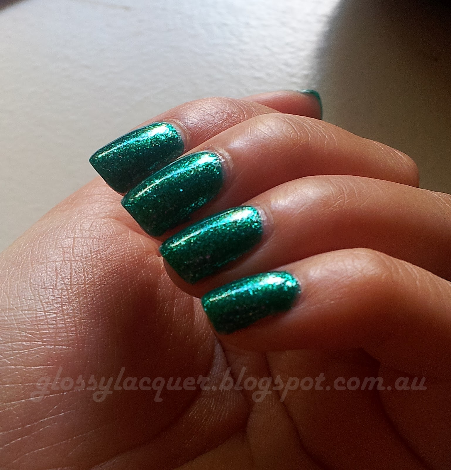 Glossy Lacquer: K.K. Nail Polish in Mint Chic (No. 27) Swatch and Review