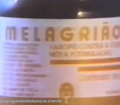 Clássica propaganda do Xarope Melagrião, em 1993. Laboratório Catarinense.