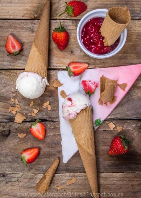 helado-yogur-fresas