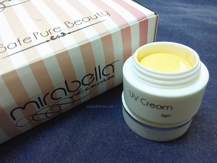 mirabella uv cream, mirabella skincare, mirabella skincare set, produk kecantikan bumiputera, produk kecantikan muslim