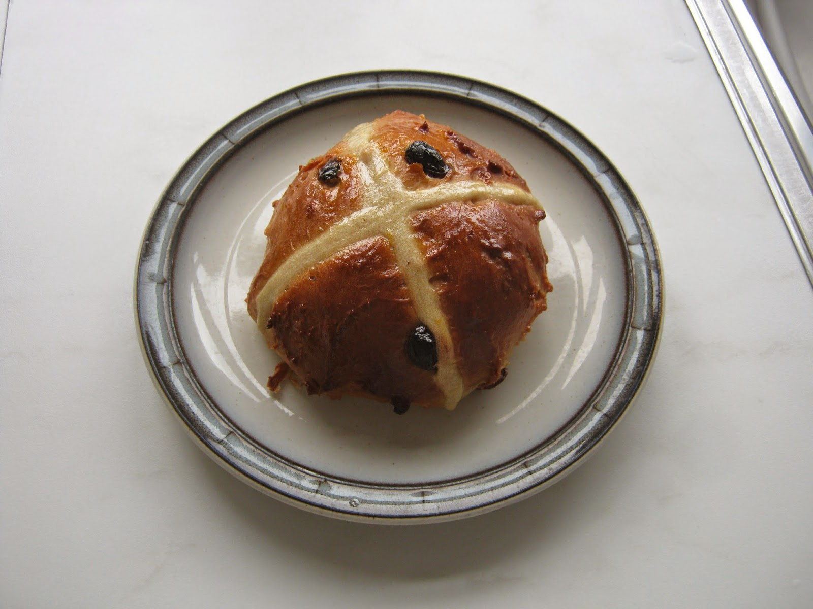 The roundest hot cross bun
