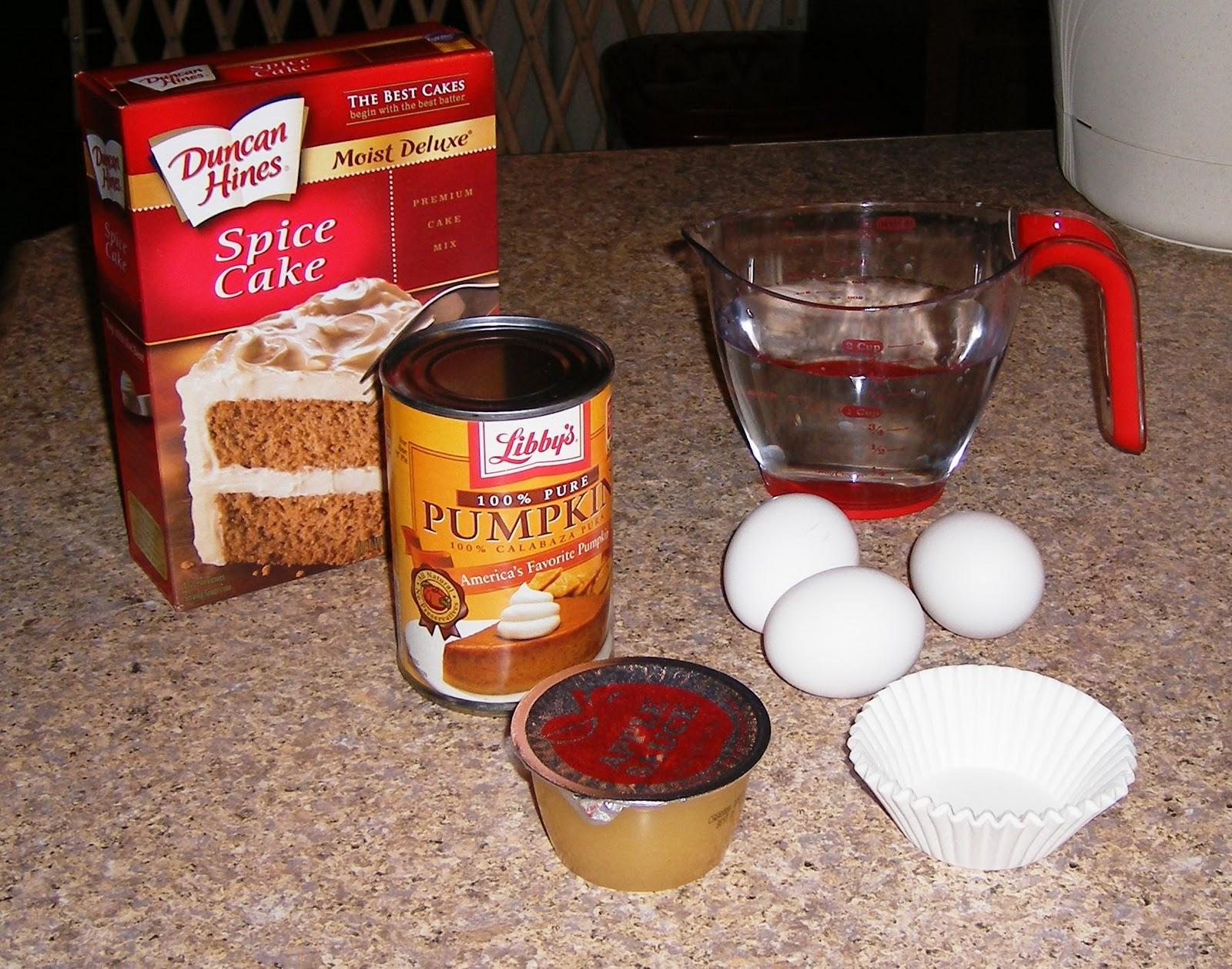 Substituting Pumpkin Cake Mix