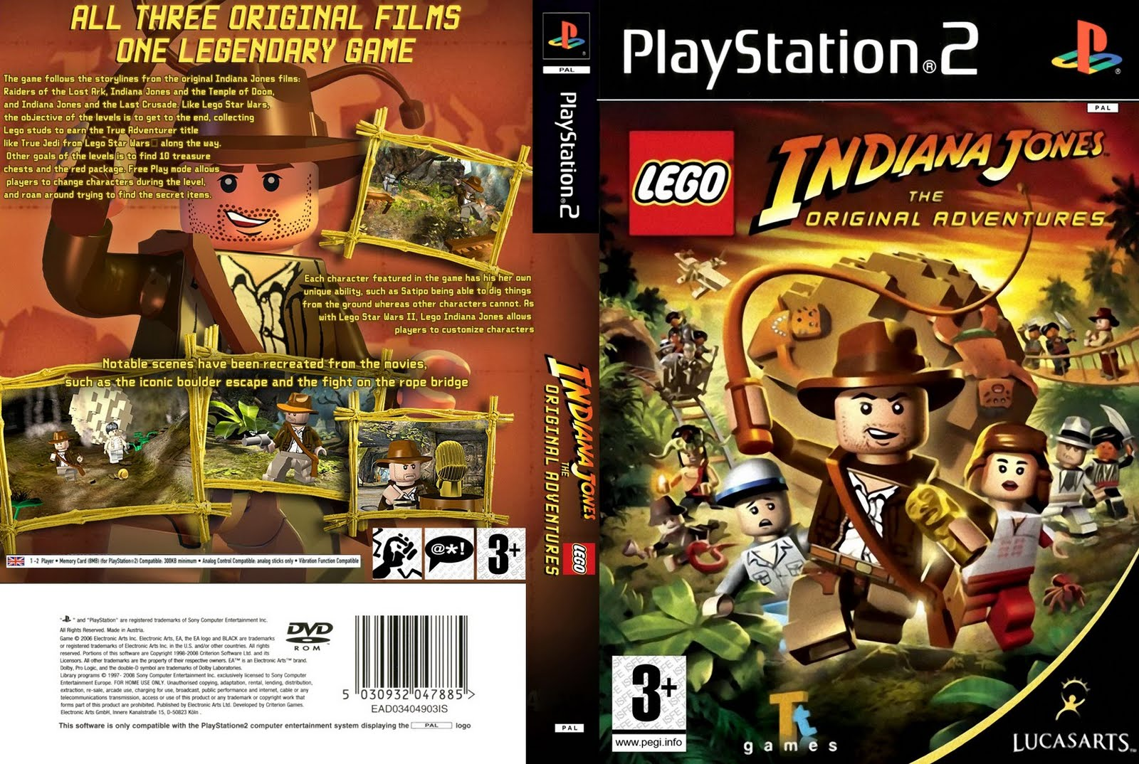 Password Lego Indiana Jones: The Original Adventures