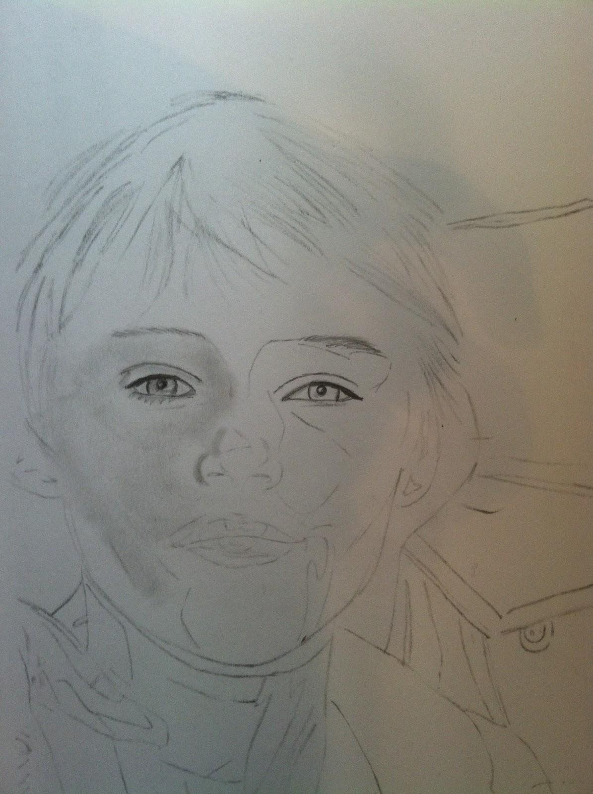 Mingus And Norman Reedus Drawn By Sara Martinez