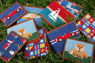 Smathers & Branson needlepoint wallets